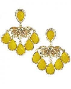 yellow earrings (fabulous!) #yellow #earrings