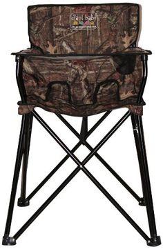 Camo Baby Stuff   Camo baby portable high chair - fantastic idea!