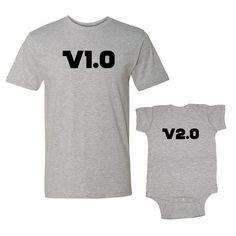 We Match!™ Version 1.0 & Version 2.0 T-Shirt & Baby Bodysuit Set