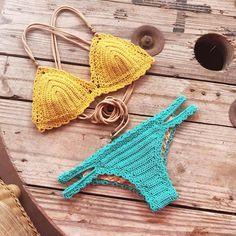 "431 Me gusta, 2 comentarios - Patterns By Capitanauncino (@capitanauncinocrochet) en Instagram: ""Colors☀️ Crochet pattern for this Marina bikini in my Etsy shop (link in bio) and…"""