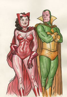 Scarlet Witch and Vision, SPX by Joe Quinones