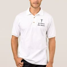 Tuscaloosa St. Thomas More Society Polo Shirt #PatronSaints #MaleSaints #ThomasMore #LawyerGifts #ReligiousGifts