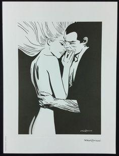 """Zaniboni, Sergio - artwork """"Diabolik ed Eva"""" - W.B."""