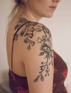 3d Vine Beautiful Forearm Abstract Tattoos Designs For Women Shoulder Tattoos For Women Shoulder Tattoo Floral Tattoo Shoulder
