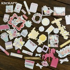 40pcs Colorful Cardstock Die Cuts for Scrapbooking Happy Planner/Card Making/Journaling Project