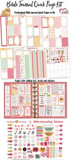 Bible Journal Quick Kit! Fit in your #HappyPlanner Editable PDF type in text…