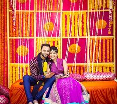 genda phool decor ideas Indian Destination Wedding, Goa Wedding, Crazy Wedding, Wedding Stage, Wedding Trends, Wedding Designs, Indian Weddings, Destination Weddings, Mehndi Decor