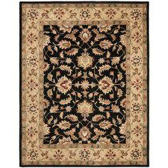 Cranston Black/Gold Oriental Wool Hand-Tufted Area Rug