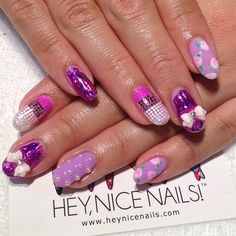Super girly pick and mix #nailart #gelnail #presto #naillabo...