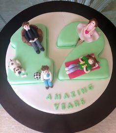 12th aniversary Number Cakes, Fondant Cakes, Birthday Cake, Anniversary, Desserts, Mary, Food, Tailgate Desserts, Deserts