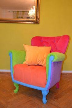 Fotel Multikolor Pikowany