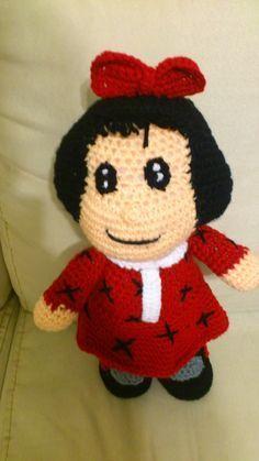 Amigurumi Muñeca Mafalda - Patrón Gratis en Español aquí: http://novedadesjenpoali.blogspot.com.es/2014/01/patron-de-mafalda-amigurumi.html