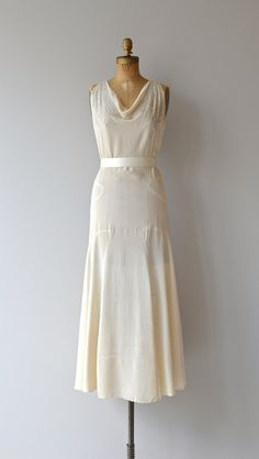 Stork Club dress vintage 1930s wedding dress silk by DearGolden