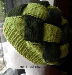 """Bonnet au point d'entrelats tricoté à la main """"MELANIE"""" : Chapeau, bonnet par misty-tuss-tricote"""