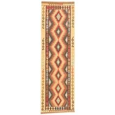 Ecarpetgallery Flat-weave Kashkoli FW Dark Brown, Light Gold Wool Kilim - x (Brown/Gold - x (Cotton, Geometric)