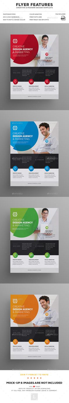#Corporate #Flyer - Corporate Flyers Download here: https://graphicriver.net/item/corporate-flyer/19198362?ref=alena994