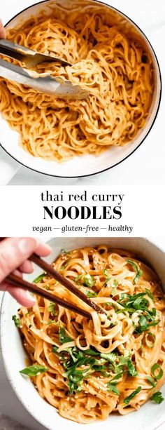 Vegetarian Recipes 16675 These Thai Red Curry Noodles are made with coconut milk for a creamy delicious Asian noodle recipe filled with tangy flavour! Asian Noodle Recipes, Easy Asian Recipes, Cooking Recipes, Healthy Recipes, Thai Food Recipes, Vegetarian Recipes Coconut Milk, Vegetarian Rice Noodle Recipes, Quick Food Recipes, Recipes With Coconut Milk