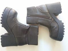 Chunky Boots / 90s Faux Leather CHUNKY by shopCALIFORNIAGIRLS, $50.00