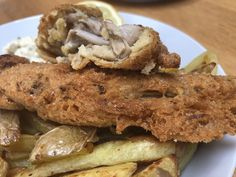 No fish & Chips aux bourgeons de bananier Fish And Chips, Pancakes, French Toast, Cookies, Breakfast, Desserts, Recipes, Food, Deep Fry Batter