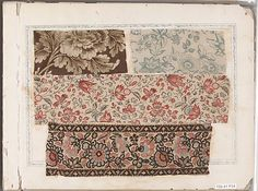 Textile Sample Book - this is an original from 1780 - it is in the Metropolitan Museum, NYC