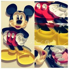 Mickey #quilling #paper #mickey #disney