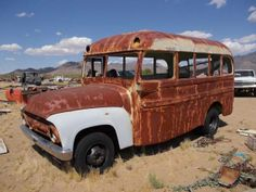 1956 Ford Short School Bus This bus would make a good RAT BUS..
