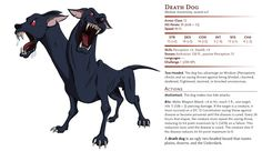The Death Dog first appeared in the Fiend Folio, where it is said they are the decendents of Cerebus, the three-headed dog from Greek myth. Dungeon Maps, Dungeons And Dragons, Monsters, Beast, Game, Movie Posters, Rpg, Film Poster, Games