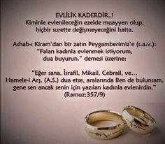 Evlilik kaderdir..
