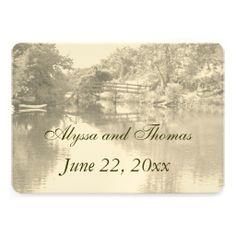 Romantic Footbridge Wedding Invitations