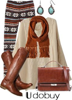 A fashion look from December 2012 featuring twist sweater, brown satchel bag and turquoise stone jewelry. Browse and shop related looks. I Love Fashion, Teen Fashion, Passion For Fashion, Fashion Outfits, Womens Fashion, Fashion Pics, Fashion Ideas, Legging Outfits, Fall Winter Outfits