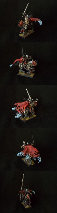 Vampire Counts Mannfred on Barded Nightmare