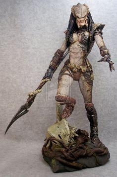 Female Predator with spear by mangrasshopper on deviantART