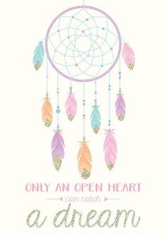 Be Your Own Dreamcatcher Watercolour Motivational ...