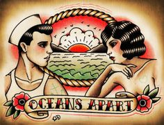 Oceans Apart Traditional Tattoo Print - LoveItSoMuch.com