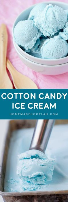 Cotton Candy Ice Cream! Celebrate the season with the treat that embodies summer fun (cotton candy) in the form of chilly ice cream. Cool off while enjoying a nostalgic sugar high! | HomemadeHooplah.com