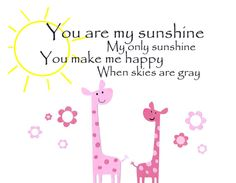 You are my sunshine - Kids Wall Art Baby Girl Children's Room Decor Nursery by vtdesigns, $14.00