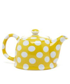Polka dot teapot, I love teapots.. but I'm afraid I ll burn the house down so now only electric....