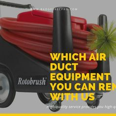Which air duct equipment you can rent with us