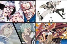 Sengoku = Coby Garp = Smoker Gol D. Roger = Luffy Rayleigh = Zoro