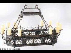 Iluminación Arañas en Hierro Forjado - Wrought Iron Chandeliers - YouTube