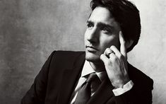 Download wallpapers Justin Trudeau, portrait, 4K, Canadian politician, Prime Minister of Canada