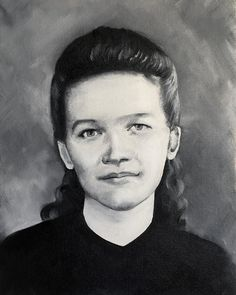 Portrait of grandma Aune ❤️Oil on canvas-Commission work- Portrait, Oil On Canvas, Daydream, Canvas