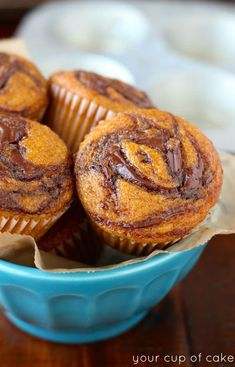 Pumpkin Nutella Muffins, these are the BEST EVER!