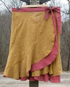 Wrap skirt pattern (free). by ammieiscool
