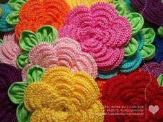 flores de crochê by Divonsir Borges