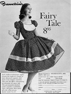 And petticoats to make a little boy feel like a princess. And this princess is smiling. Braunstein's was in Wilmington, Delaware, where I. Vintage Ads Food, Vintage Advertisements, Vintage Stuff, Retro Fashion 50s, Vintage Fashion, Fairytale Dress, Fashion Now, Vintage Vogue, Vintage Dresses
