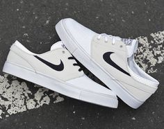 Nike SB Zoom Stefan Janoski Canvas - Light Base Grey/Black-White
