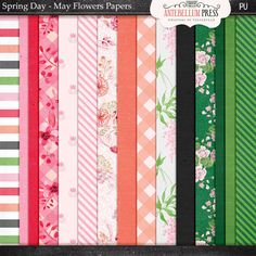 May Flowers Paper Pack @Antebellumpress