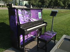 Just a purple piano.. on the lawn lol