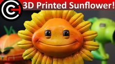 3D Printed Sunflower (SLA/DLP) - Plants Vs Zombies: GW 2